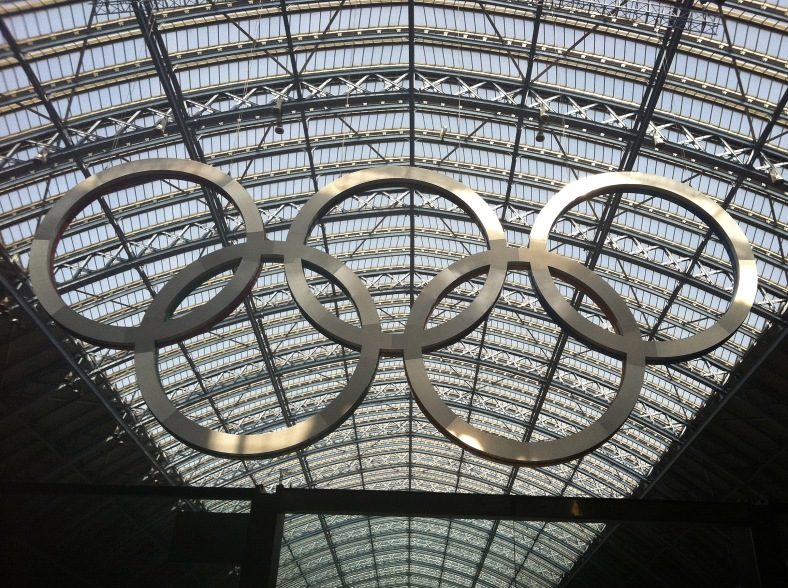 The Olympic Rings were designed in 1912 by Pierre de Coubertin, the founder of the modern Olympics. They represent the joining of the five continents in healthy competition.