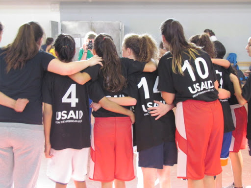 Team camaraderie at Peace League