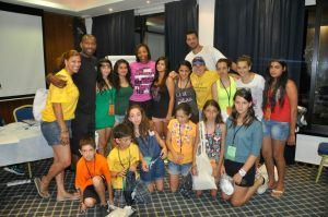 Doug Overton with new friends at the PPI-Cyprus Summer Camp