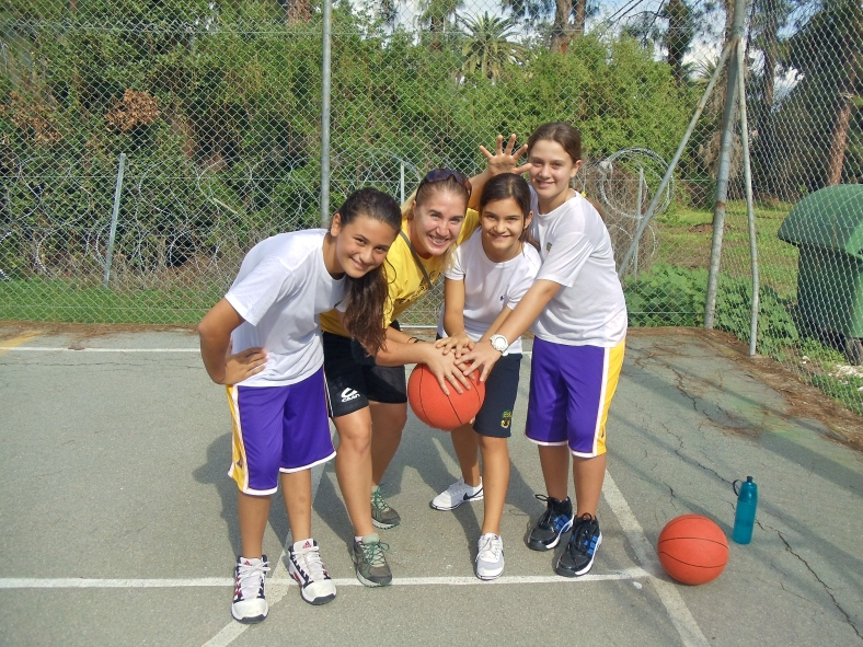 Three of the young girls I coach from Kyrenia while at a twinning, these are the moments I miss while I am back home.