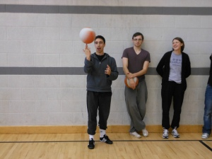 PPI-NI sessional coach Carlos Alvarez showcases his basketball tricks.