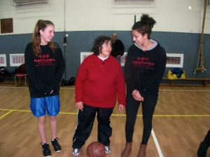 PPI Participants interacting with a member of the special needs team