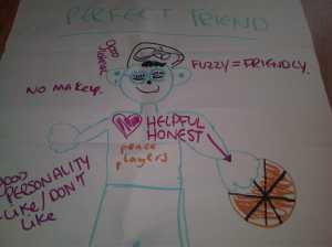 """The result of a recent """"team talk"""" with primary school participants."""