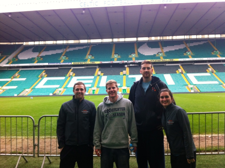 From left to right: PPI-NI coaches Ben Scullion, Chris Schumerth, Megan Lynch, and Keelan Cairns.