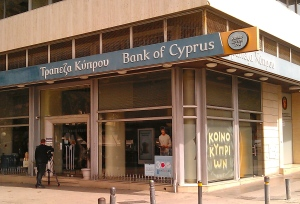 The Bank of Cyprus, whose doors remain closed during this week's collapse