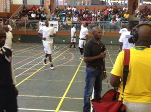 PPI-SA's Mtu Zulu (on the mic) coached the Kwa-Zulu Natal team (background) at the national championships