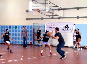 ADIDAS guests getting involved and playing with the kids