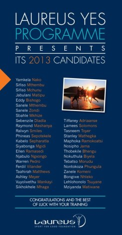 The official release of the 2013 Laurues YES Program participants