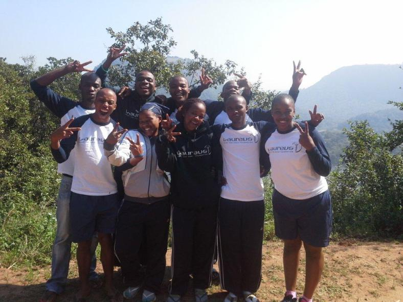 The 9 PPI-SA coaches at this year's Laureus YES Programme