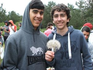 Dimitris with his new friend Tunc at the LDP camp in Kantara