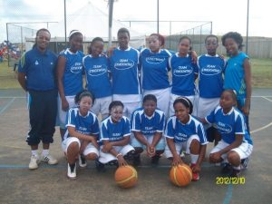 Zanele, (back row, 3rd from right) with the Kwa-Zulu Natal provincial team