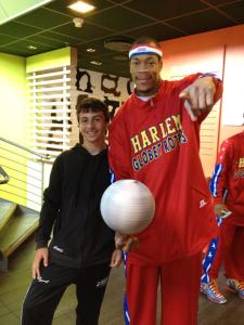 Hanging with the Harlem Globetrotters!