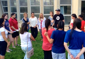 The girls, Chad and some PPI participants learning from each other!