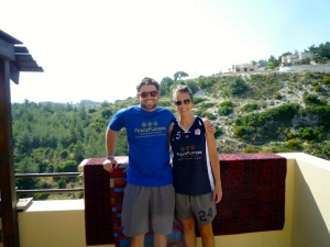 Jack and American fellow Jamie taking in the beautiful view after a successful day!
