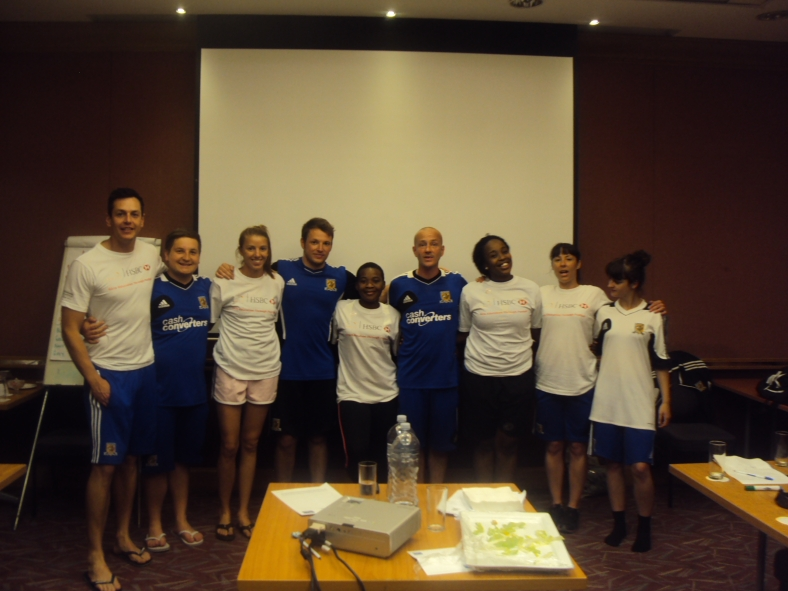 PPI-SA coaches with the Hull City staff on the last day of the Coaching for Hope training in Durban