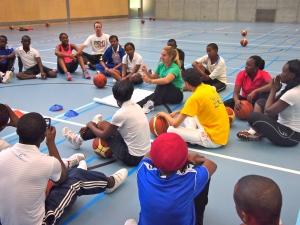 On the court strategy sessions led by PeacePlayers