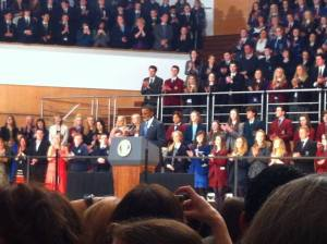 U.S. President Barack Obama showcased his excellent speaking skills before a Northern-Irish crowd that included PPI-NI.