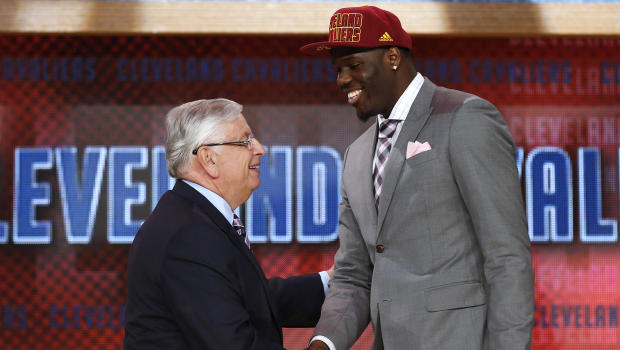 Anthony Bennett, the number one pick in the 2013 NBA Draft, poses with NBA Commissioner David Stern. Bennett's selection represented only one of the 19 international players selected in this year's NBA draft.