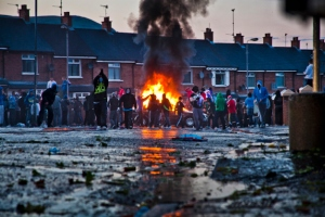 Previous riots at the Ardoyne interface