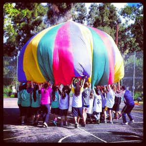 Off the court team building with Parachute games!