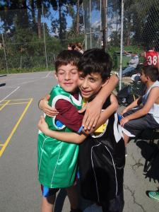 2 PeacePlayers from Iskele who compete together in their local 3 on 3 tournament