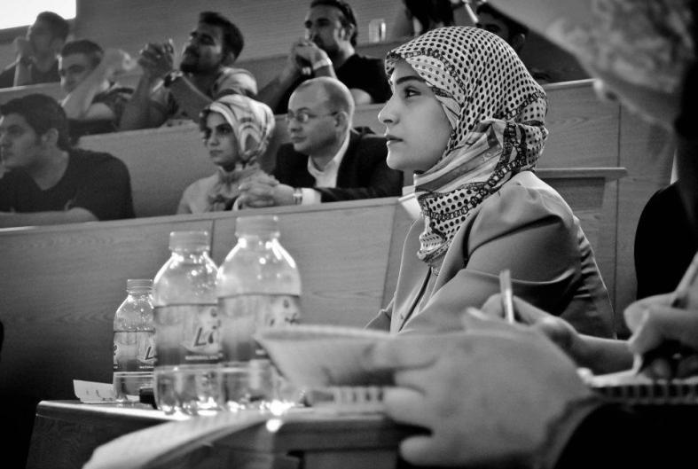 At my University's debate club, debating against the teachers about the Arab Spring