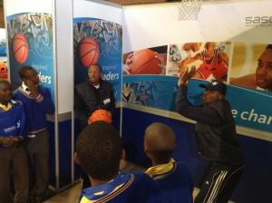 PPI-SA coaches Yamkela and Sifiso facilitating  a life skills session on goal setting and planning for the future
