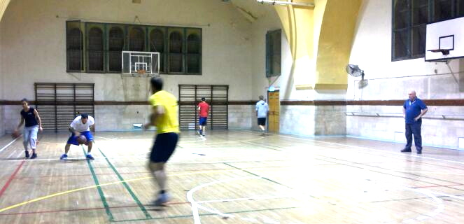 Basketball coaches training in the Jerusalem YMCA
