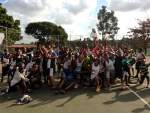The communities of Lamontville and Wentworth came together for a rare day together playing basketball!