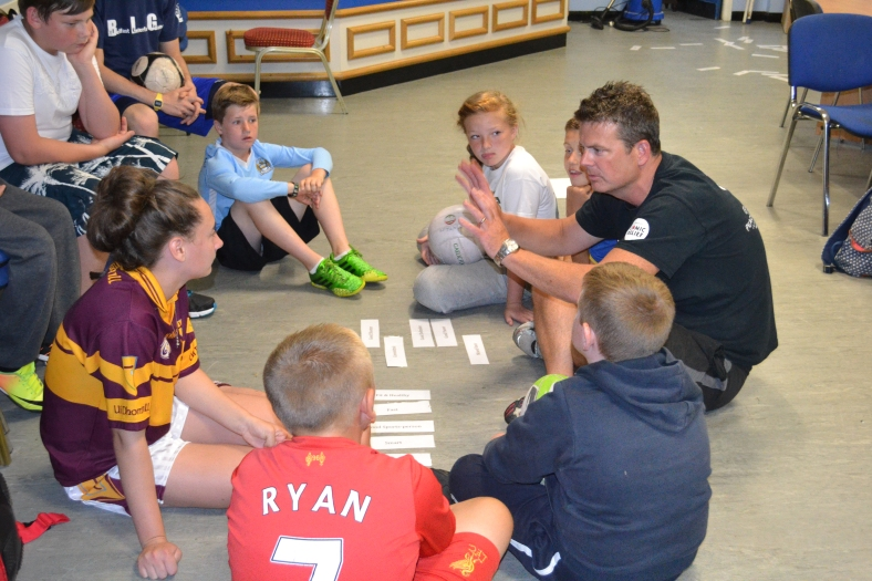 Managing Director, Gareth Harper, facilitates a community relations session that helps the kids to develop their understanding of the issues still present in Northern Ireland.