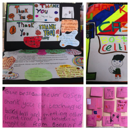 The kids from both schools show their appreciation for PeacePlayers International and all of its staff!