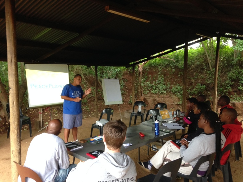 PPI-SA's Ryan Douwie leads a training session for coaches at Shongweni Dam.