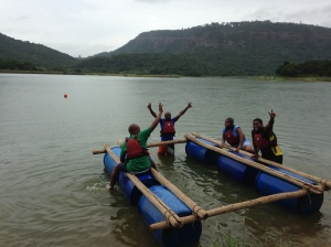Raft-building was a success!