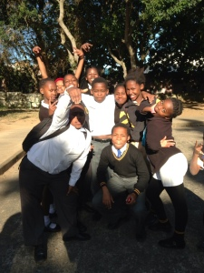 Some of last year's grade 7 participants in Lamontville hope to join the Lamontville LDP team this year.