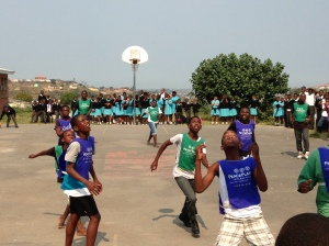 Hopeful players show off their skills at Sekelani Primary School in Umlazi.