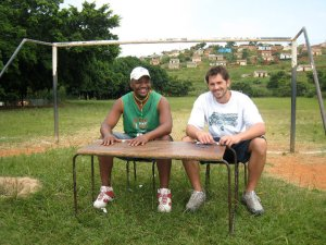 Tim and Menzi in Lamontville back in the day.
