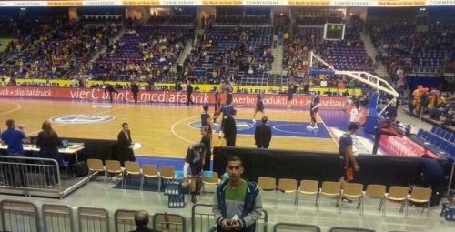 At a professional basketball game of Alba Berlin - Ibrahim described the stadium as one of the most beautiful in the world