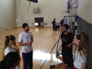 Coach Shady from Arab village Tamra (male pictured on the left), coaching the LDP
