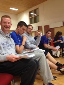 Coaches Ruairi Sheridan, Joe Shields, Ben Scullion & Conor McElroy having a blast as they develop their coaching skills.