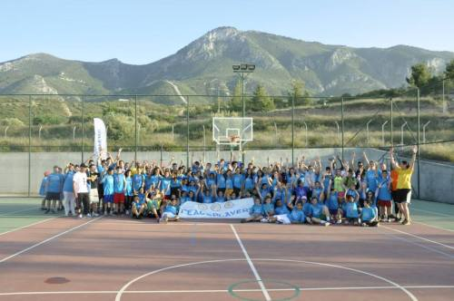 Over 150 Greek-Cypriot and Turkish-Cypriot children at the PPI-Cyprus Spring Basketball Tournament in Kyrenia