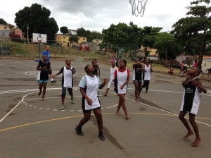 The girls teams (pictured above) played first (with some of the younger boys included), and the boys played after them.