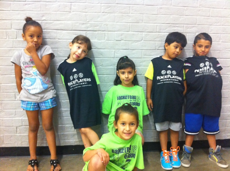 The kids loved wearing the PeacePlayers International - Northern Ireland basketball jerseys!