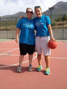 Ashley Johnson coaching in Kyrenia with former teammate Cody Smith