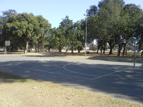 Albert Park in Downtown Durban is home to a beautiful outdoor basketball court which sits empty 95% of the time.
