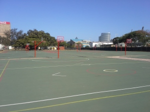Hoy Park is home to 10 outdoor basketball courts, which are closed to the public unless one has a reservation