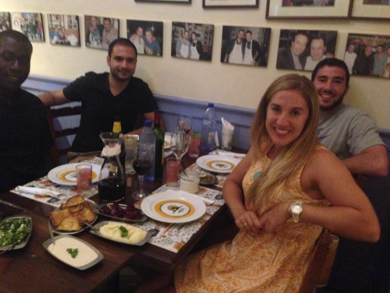 Ashley Johnson's last Cypriot meal as a fellow