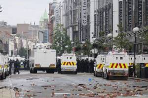 Riots between between PSNI and factions in July and August 2013.