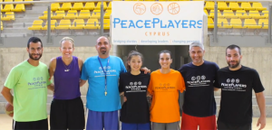 Evan with the PPI - Cyprus coaches and young leaders who assisted with many of the practices