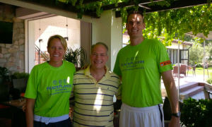 Evan and Pat with US Ambassador