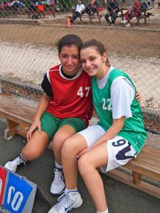 Christiana (right) with Ayse, a Turkish-Cypriot, playing together during a twinning in the UN Buffer Zone